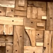 Teak Wall Board 2x1m